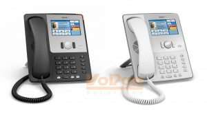 snom 870 touchscreen VoIP phone in Black or White
