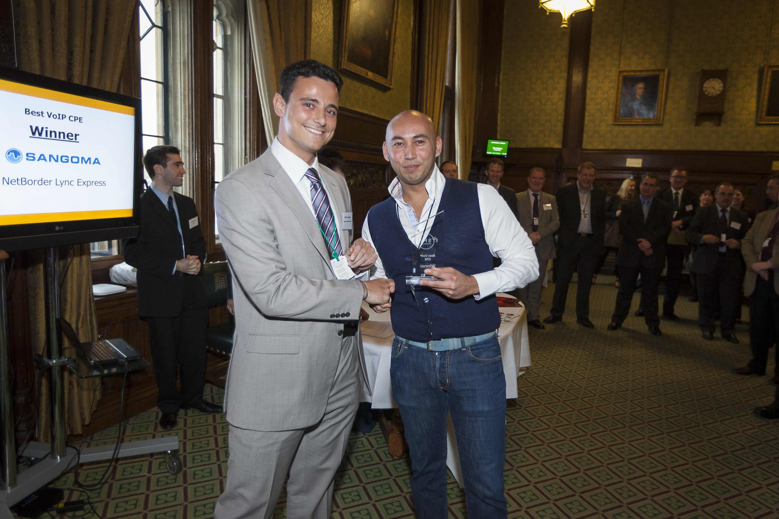 ITSPA Awards Announced in Parliament – Sangoma wins The Best VoIP CPE award 2013 + highly commended Grandstream – Sponsored by VoIPon