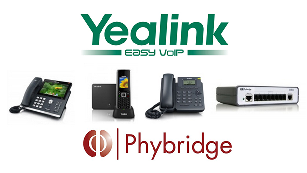 Yealink SIP Phones now certified with Phybridge