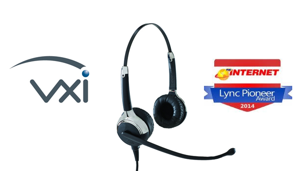 VXi UC ProSet Lux headsets win the TMC 2014 INTERNET TELEPHONY Lync Pioneer Award