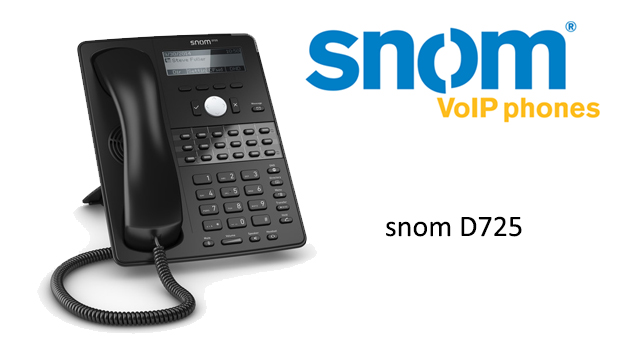 First Look at the snom D725 VoIP Phone