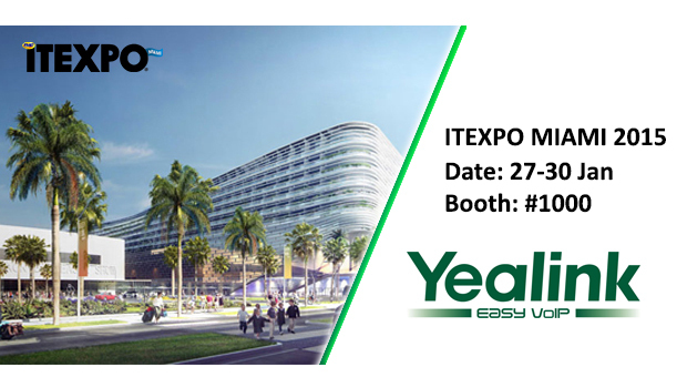 Yealink to Attend ITEXPO Miami in 2015 as a Platinum Sponsor