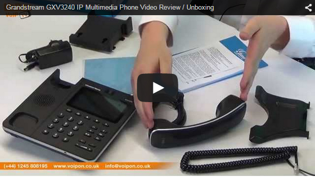 Grandstream GXV3240 IP Multimedia Phone Video Review / Unboxing