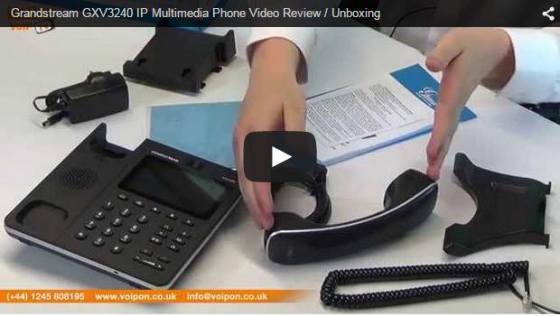 Grandstream GXV3240 IP Multimedia Phone Video Review / Unboxing