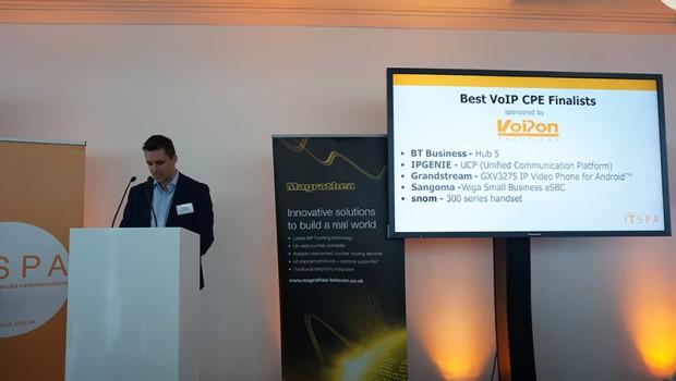 Craig Herrett presenting Best VoIP CPE