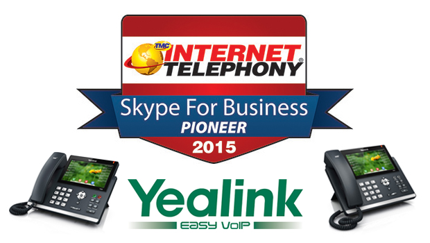 Yealink Awarded 2015 Internet Telephony Skype for Business Pioneer Award