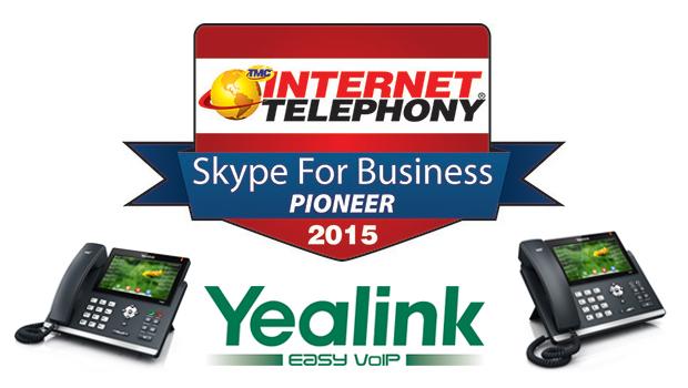 Yealink Awarded 2015 Internet Telephony Skype for Business Pioneer Award