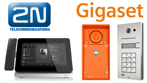 2N Helios IP intercoms compatible with Gigaset Maxwell 10 VoIP Phone