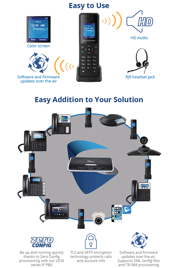 Grandstream set to release new DP720 Handset and DP750 Base