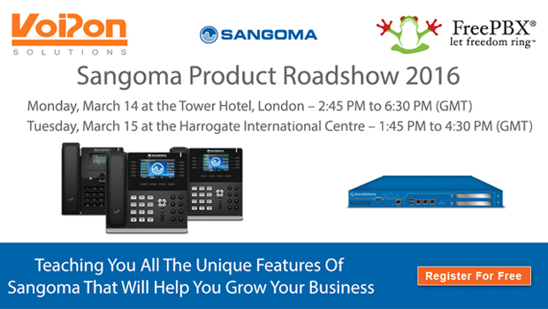 Sangoma Product Roadshow to showcase FreePBX and Sangoma VoIP Phones