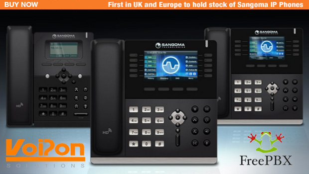 Sangoma IP phones, designed exclusively for FreePBX Now Shipping at VoIPon