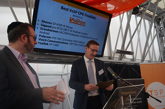 Matthew Hayward presenting Best VoIP CPE for VoIPon Solutions