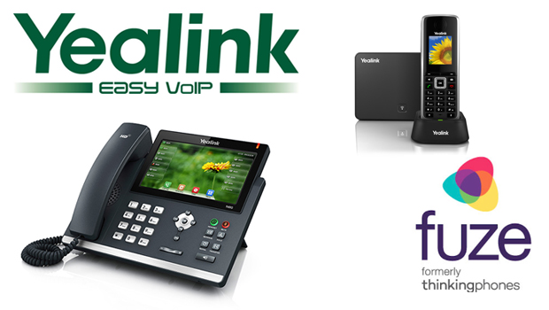 Yealink T4 series of desktop IP phones and W52P DECT phone are now compatible with Fuze