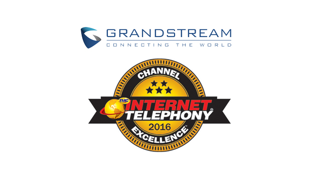 Grandstream named a winner of the 2016 INTERNET TELEPHONY Channel Program Excellence Award