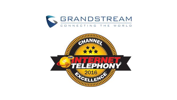 Grandstream named a winner of the 2016 INTERNET TELEPHONY Channel Program Excellence Award