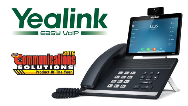 Yealink receives 2016 Communications Solutions Product of the Year Award from TMC