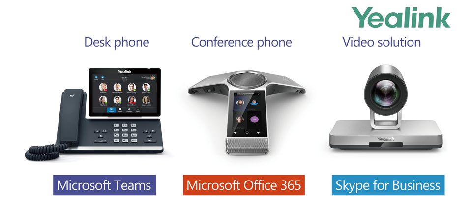 Yealink announce audio and video devices for Microsoft Teams