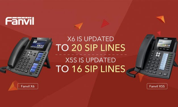 Fanvil upgrades firmware to increase SIP lines on X5S and X6 IP phones