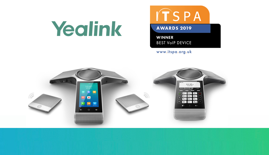 Yealink Wins 'Best VoIP Device' at the ITSPA Awards 2019