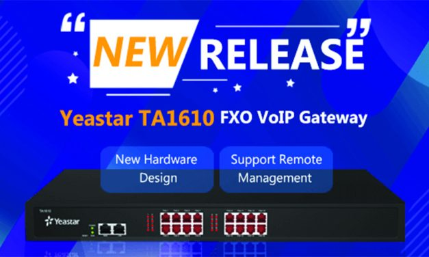 Yeastar releases new hardware for TA1610 FXO VoIP Gateway