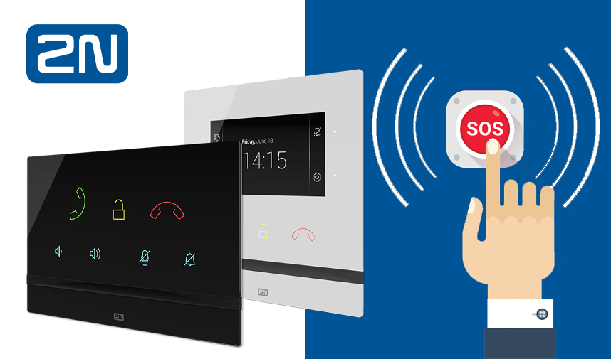 2N Indoor Talk and Indoor Compact answering units now offer extra safety with an SOS button