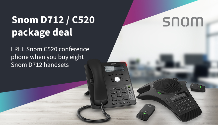 Snom D712/C520 conference phone package deal