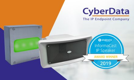 CyberData produces two winners in the 2019 Singlewire Informacast IP speaker awards