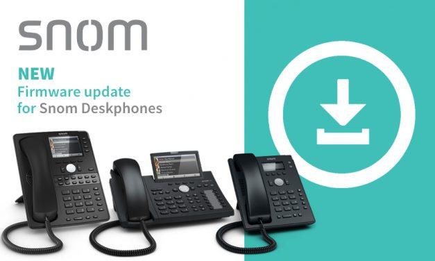 Snom releases new firmware version 10.1.49.11 for Snom Deskphones