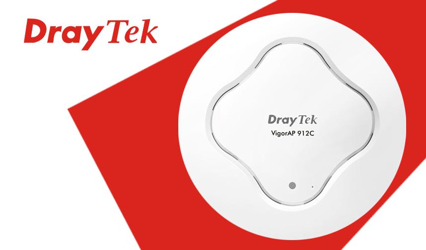 Introducing the new DrayTek VigorAP 912C 802.11ac Wave2 Dual-Band Ceiling-Mount Wireless Access Point