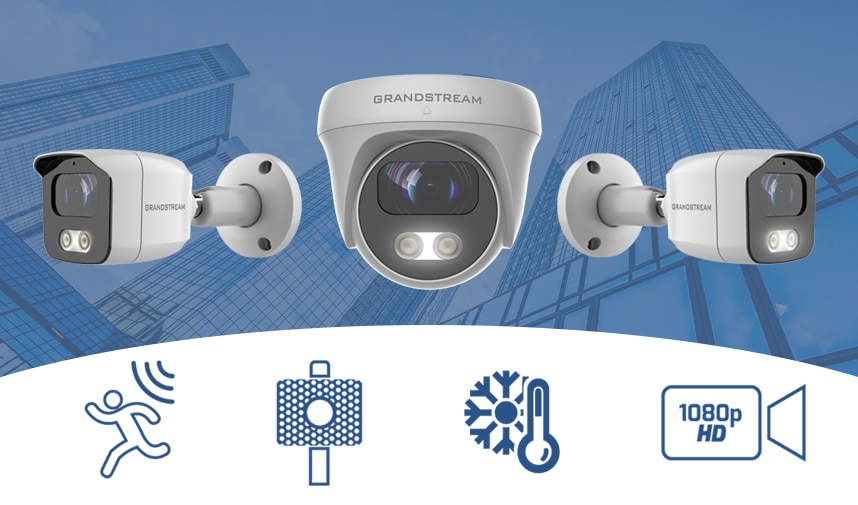 Grandstream Announces the Release of the New GSC3600 Series of IP Surveillance Cameras