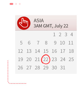 ASIA, 3AM GMT, July 22