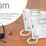 FREE headset when you buy the Snom D717, D735 or D785 White IP Phone