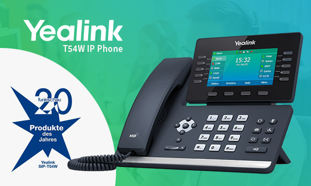 Yealink's T54W VoIP Phone Wins Readers' Choice of ICT Products of the Year 2020 of the Funkschau