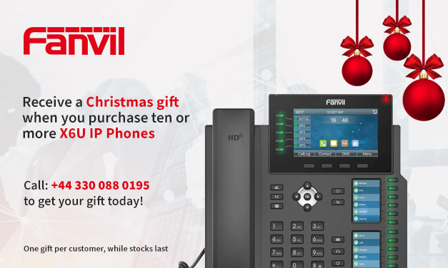 Receive a Christmas gift when you purchase ten or more X6U IP Phones in December