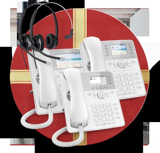 Snom Headset and D7 White IP Phones