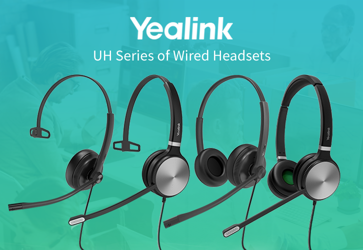Get the Yealink UH Series of Wired Headsets